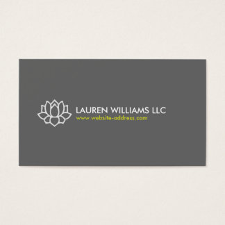 LOTUS BLOSSOM in GRAY Business Card