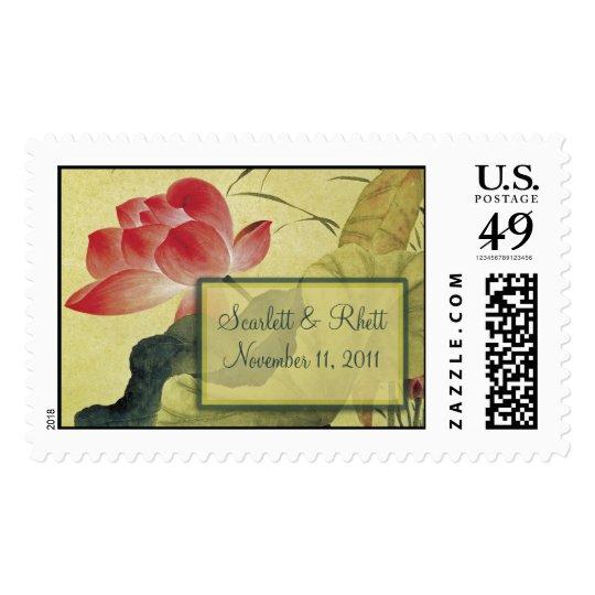 Lotus Blossom Large Wedding Postage