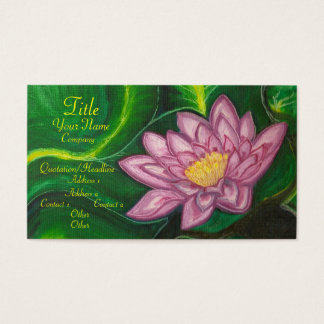 Lotus Blossom (Lily Pad) Business Card