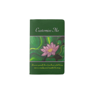 Lotus Blossom (Lily Pad) Pocket Moleskine Notebook Cover With Notebook