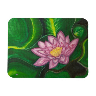 Lotus Blossom (Lily Pad) Rectangle Magnets