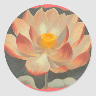 Lotus Blossom, Lilypad, Water Lily Buddhist Symbol Classic Round Sticker