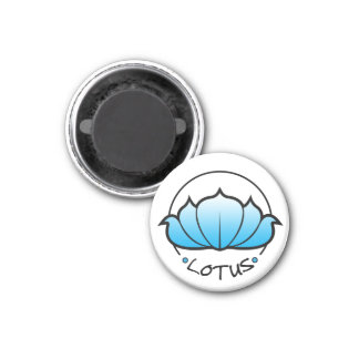 Lotus Blossom Magnet (cyan)