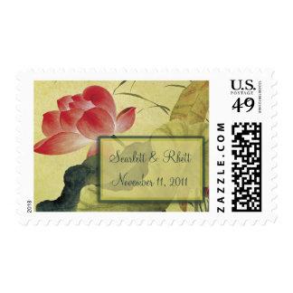 Lotus Blossom Medium Wedding Postage