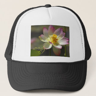 Lotus Blossom Pink and White Serenity Trucker Hat