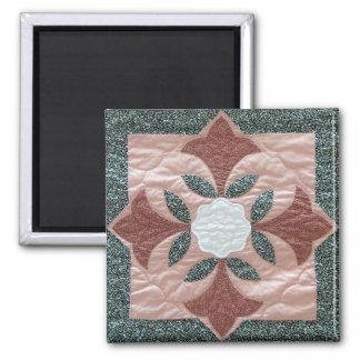 Lotus Blossom Quilt Magnet