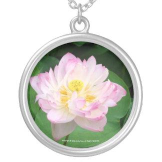Lotus Blossom Round Pendant Necklace