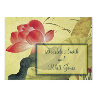 Lotus Blossom Wedding Invitation