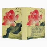 Lotus Blossom Wedding Planner or Photo Album Vinyl Binders