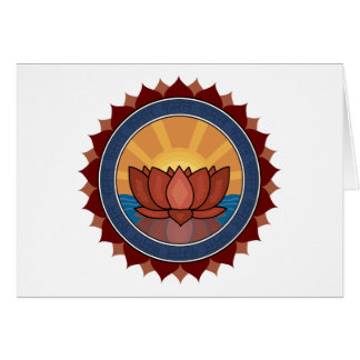Lotus Blossom Yoga Card