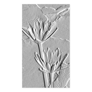 Lotus Blossoms/Embossed-Like Photo Business Card