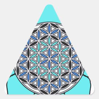 Lotus Blue2 Triangle Sticker