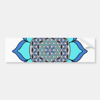 Lotus Blue3 Bumper Sticker