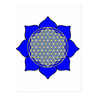 Lotus Blue4 Postcard