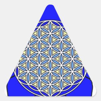 Lotus Blue4 Triangle Sticker
