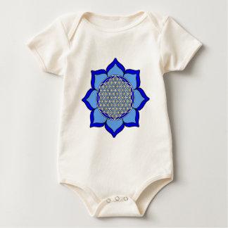 Lotus Blue5 Baby Bodysuit