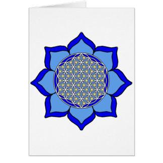 Lotus Blue5 Card