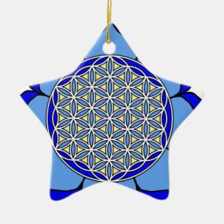 Lotus Blue5 Ceramic Ornament