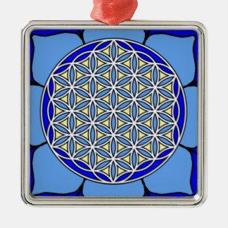 Lotus Blue5 Metal Ornament