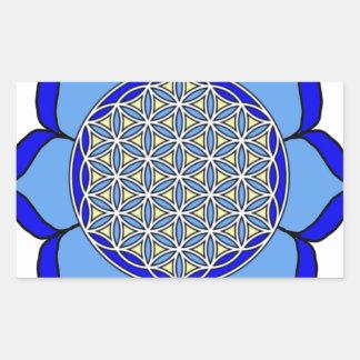 Lotus Blue5 Rectangular Sticker