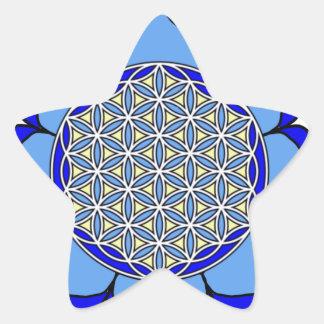 Lotus Blue5 Star Sticker