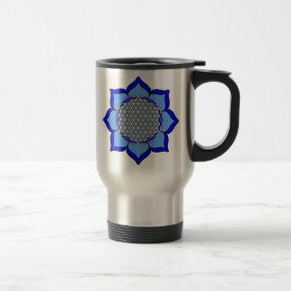 Lotus Blue5 Travel Mug