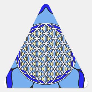 Lotus Blue5 Triangle Sticker