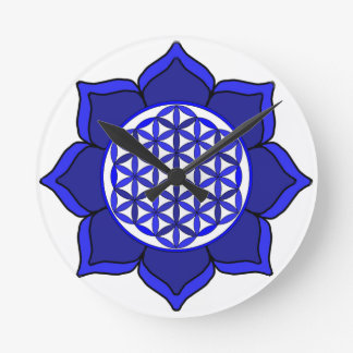 Lotus Blue7 Reloj Redondo Mediano