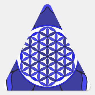 Lotus Blue7 Triangle Sticker