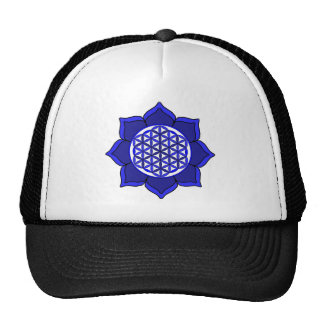 Lotus Blue7 Trucker Hat
