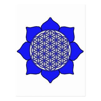 Lotus Blue9 Tarjeta Postal