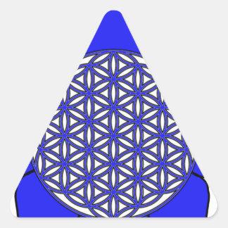Lotus Blue9 Triangle Sticker