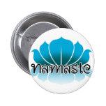 Lotus Blue 2 Inch Round Button