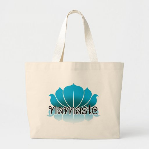 Lotus Blue Canvas Bags