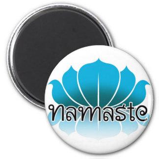 Lotus Blue Magnet