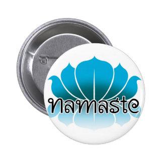 Lotus Blue Pinback Button