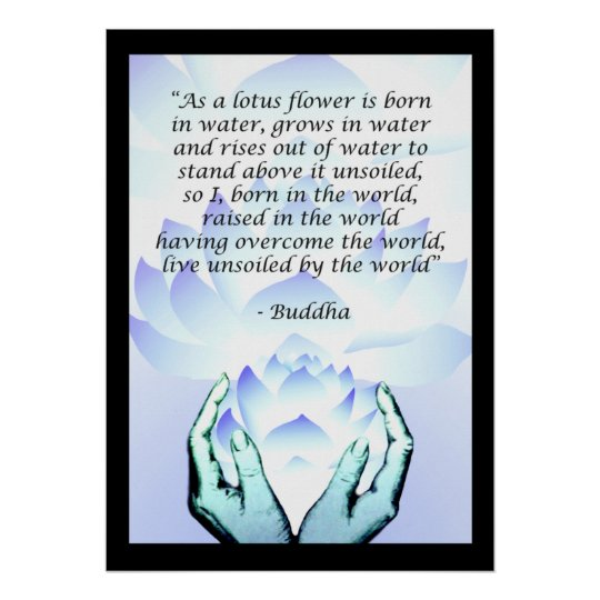 Lotus buddha flower quote blue poster 2 zazzle lotus buddha flower quote blue poster 2 mightylinksfo