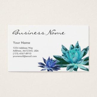 Lotus Business Card (Blue)