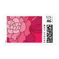 Lotus Butterfly Flower Petals by Ceci New York Postage Stamp
