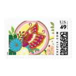 Lotus Butterfly Scene by Ceci New York Stamp