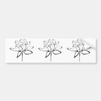 Lotus Calligraphy (Black) Bumper Stickers