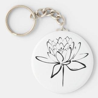 Lotus Calligraphy (Black) Keychain
