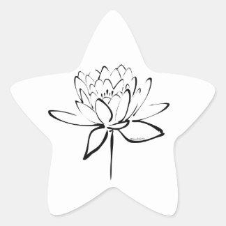 Lotus Calligraphy (Black) Star Sticker