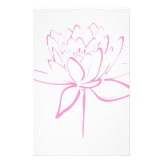 Lotus Calligraphy (Pink) Stationery