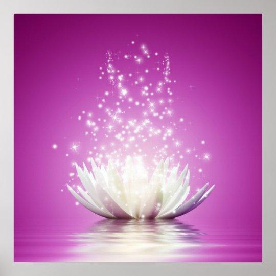 Lotus Chakra Love Healing Healer Yoga Zen Energy Poster
