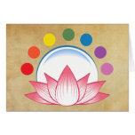 Lotus con chakra tarjeta de felicitación