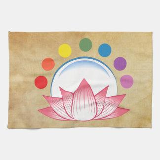 Lotus con chakra toallas de mano