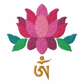 Lotus con la camisa tibetana de OM
