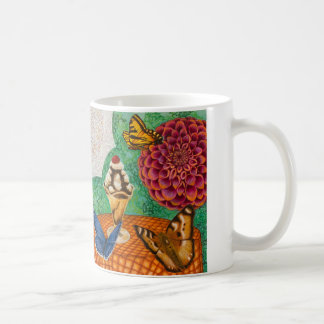 Lotus, dahlia, butterflies and desserts coffee mug