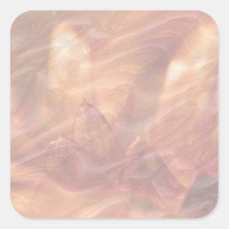 Lotus de cobre adhesivo Escribir-EN la herramienta Pegatina Cuadrada